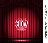 show banner with curtain... | Shutterstock .eps vector #742000099