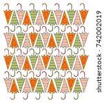 umbrella | Shutterstock .eps vector #742002019