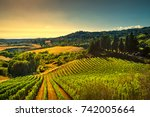 casale marittimo village ... | Shutterstock . vector #742005664