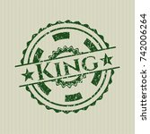 green king distress grunge stamp   Shutterstock .eps vector #742006264
