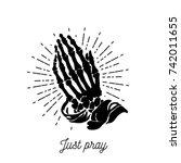 Vector Illustration   Praying...