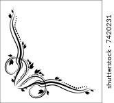 floral corner | Shutterstock .eps vector #7420231