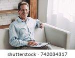 senior experienced psychologist ... | Shutterstock . vector #742034317