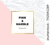 Trendy Pink Geometric Card Or...