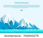 travel and tourism sign with... | Shutterstock .eps vector #742043275