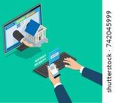 online banking service account... | Shutterstock .eps vector #742045999