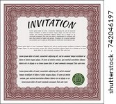 red invitation. with quality... | Shutterstock .eps vector #742046197