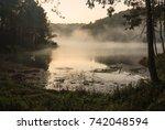 environmental friendly outdoor... | Shutterstock . vector #742048594
