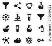16 vector icon set   funnel ... | Shutterstock .eps vector #742049311
