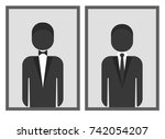 man dresscode symbol with... | Shutterstock .eps vector #742054207