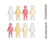person icon in four different... | Shutterstock .eps vector #742054969