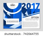 abstract vector layout... | Shutterstock .eps vector #742064755