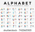 vector alphabet infographic ... | Shutterstock .eps vector #742065505