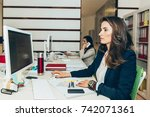 female architects working in... | Shutterstock . vector #742071361