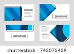 abstract vector layout... | Shutterstock .eps vector #742072429