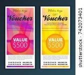 gift voucher template | Shutterstock .eps vector #742073401