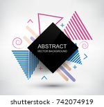 abstract geometric background... | Shutterstock .eps vector #742074919