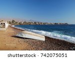 view of dahab village coast ... | Shutterstock . vector #742075051