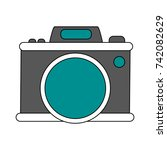 photographic camera icon image | Shutterstock .eps vector #742082629