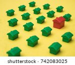 row of houses  for real estate | Shutterstock . vector #742083025
