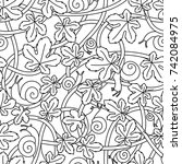 seamless vector pattern from... | Shutterstock .eps vector #742084975