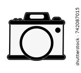 photographic camera icon image  | Shutterstock .eps vector #742087015