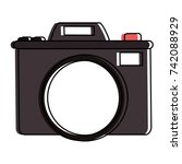 photographic camera icon image  | Shutterstock .eps vector #742088929