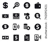 16 vector icon set   dollar ... | Shutterstock .eps vector #742092421