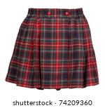 plaid red feminine skirt on... | Shutterstock . vector #74209360
