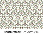 colorful textured seamless... | Shutterstock . vector #742094341