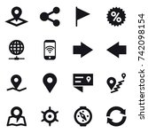16 vector icon set   pointer ... | Shutterstock .eps vector #742098154