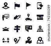 16 vector icon set   pointer ... | Shutterstock .eps vector #742101289