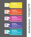 colorful infographic in five... | Shutterstock .eps vector #742106779