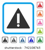 warning icon. flat grey...
