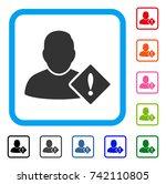 user problem icon. flat gray...