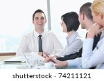 young business people group... | Shutterstock . vector #74211121