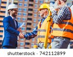 cropped shot of construction... | Shutterstock . vector #742112899