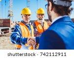 construction worker in... | Shutterstock . vector #742112911