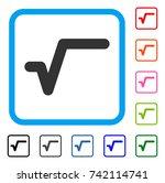 sqrt icon. flat grey pictogram...