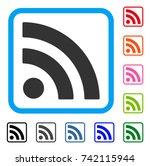 rss icon. flat grey iconic...