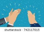 flat. concept of success... | Shutterstock .eps vector #742117015