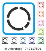 round diagram icon. flat grey...