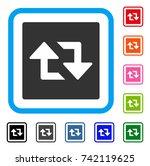 refresh arrows icon. flat gray...