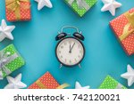 christmas and new year holiday... | Shutterstock . vector #742120021