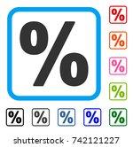 percent icon. flat grey iconic...