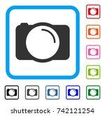photo camera icon. flat gray...