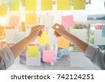 creative business people... | Shutterstock . vector #742124251