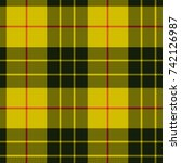 scottish plaid  macleod tartan... | Shutterstock .eps vector #742126987