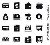 16 vector icon set   card ... | Shutterstock .eps vector #742128619