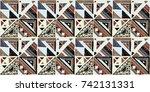 seamless geometric african... | Shutterstock .eps vector #742131331